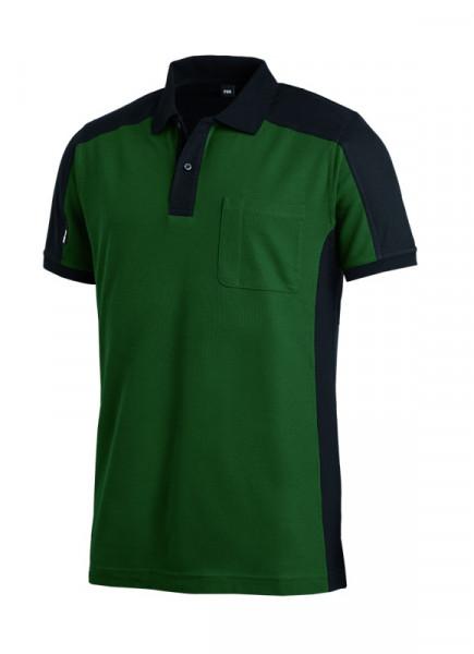 FHB KONRAD Polo-Shirt, grün-schwarz