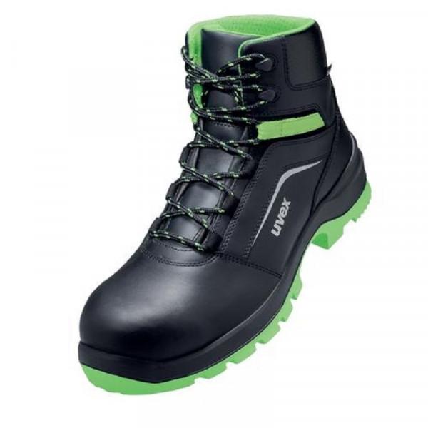 UVEX, 2 xenova Sicherheitsschuh S2 Stiefel Weite 11 grün / 95668