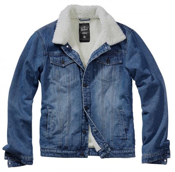 BRANDIT, Sherpa Demin Jacket, denim blue-off white / 3171