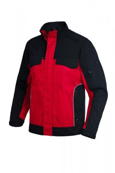 FHB ERNST Arbeitsjacke, rot-schwarz