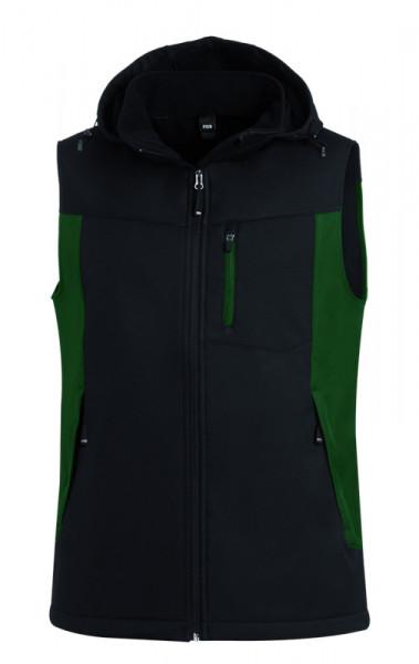 FHB JUSTUS Softshellweste, grün-schwarz